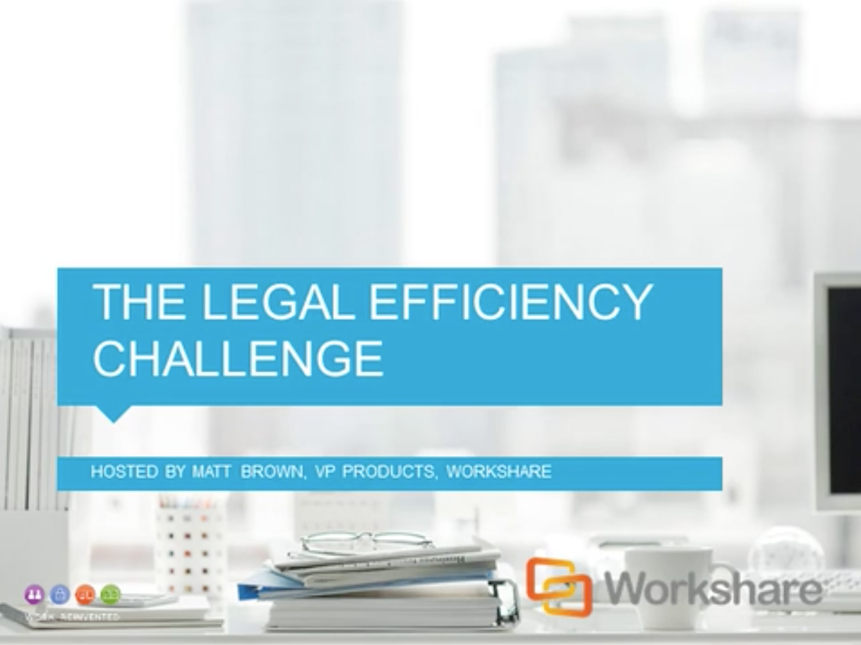 The Legal Efficiency Challenge