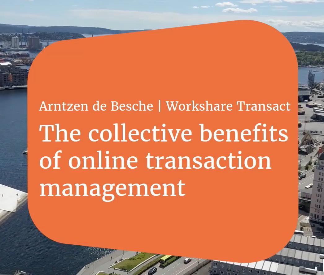 Arntzen de Besche | The Collective Benefit of Online Transaction Management