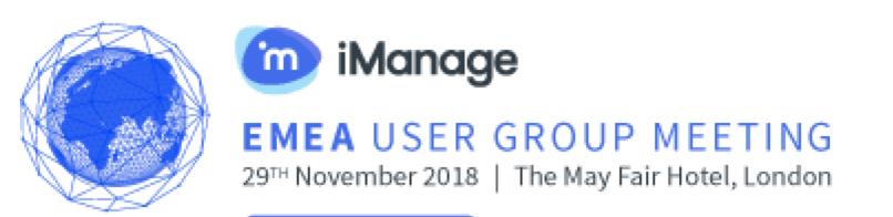 iManage User Group - EMEA