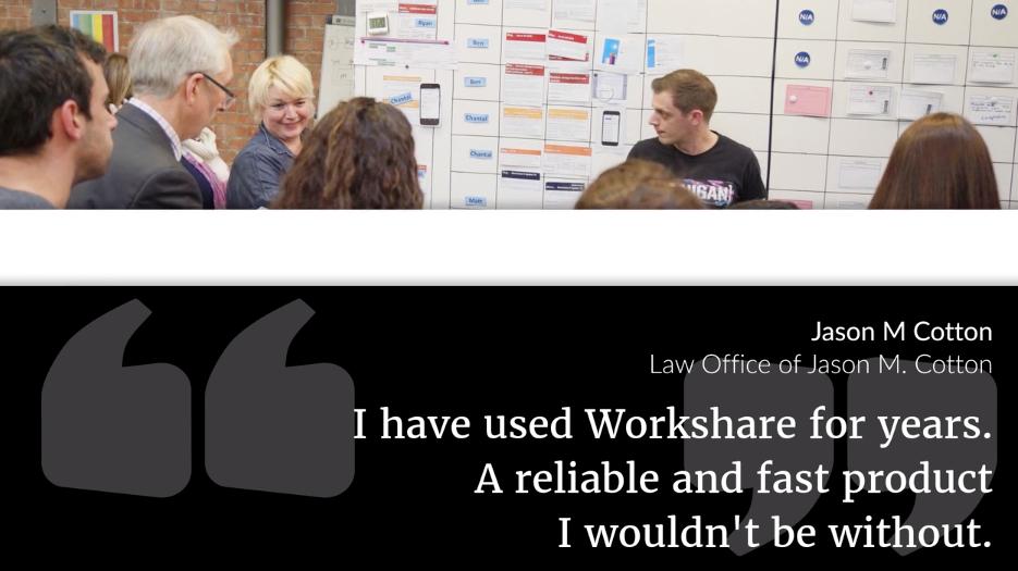 Workshare customer success