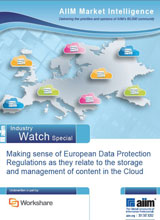 Making sense of European Data Protection Regulations as they relate to the storage and management of content in the Cloud