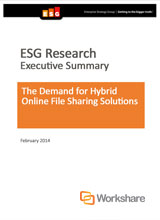 ESG Report: The Demand for Hybrid Online File Sharing Solutions